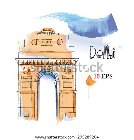 India. Delhi  - stock vector