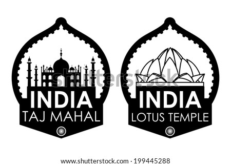 India design over white background, vector illustration - stock vector