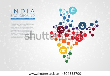 India dotted vector background