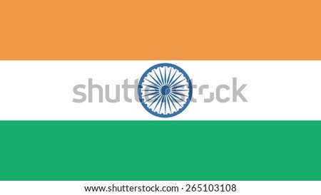 india Flag for Independence Day and infographic Vector illustration. - stock vector