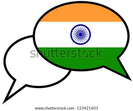 India flag on speaking bubble