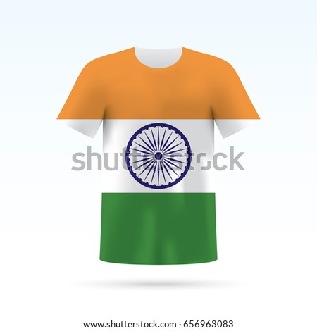 India Flag Printed On Tshirt Vector Stock Vector (2018) 656963083 ...