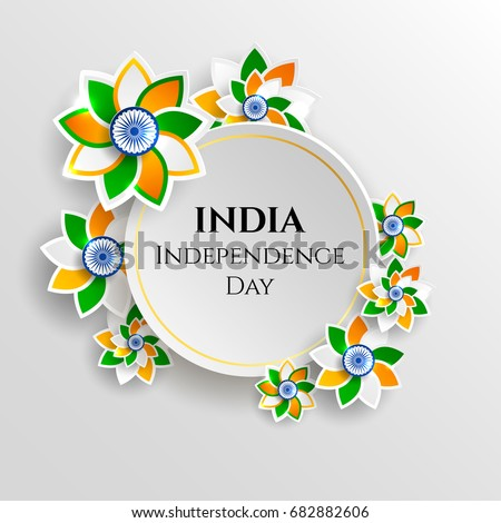 India Happy Independence Day 15th August Vector de stock682882606 ...