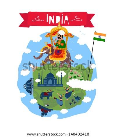 India. Vector icon - stock vector