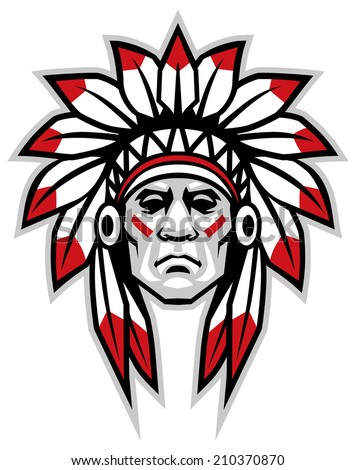 indian head mascot stock vector 371977882 shutterstock indian chief logo 1903 indian chief logo images