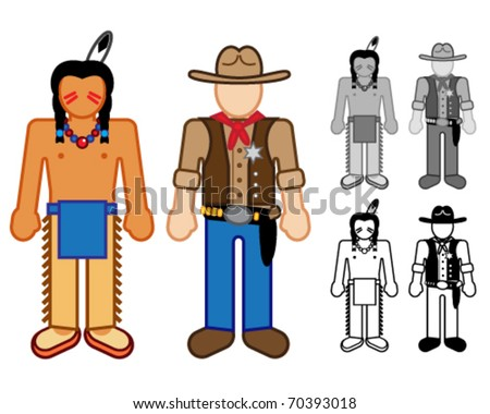 Indian & Cowboy Classic Character figures