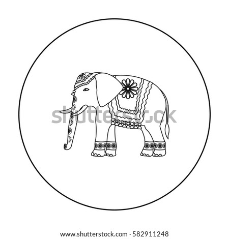outline drawing indian elephant stock images royalty free images vectors shutterstock. Black Bedroom Furniture Sets. Home Design Ideas