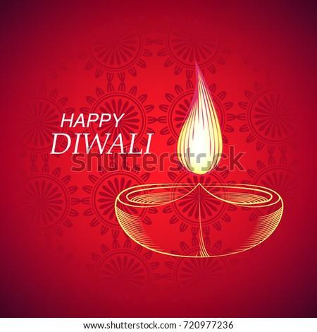 Indian festival lights happy diwali greeting stock vector 720977236 indian festival of lights happy diwali greeting card diwali background vector illustration m4hsunfo