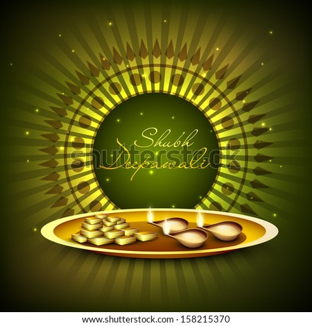 Indian festival lights shubh deepawali happy stock vector 158215370 indian festival of lights shubh deepawali happy deepawali greeting card with illuminated oil m4hsunfo