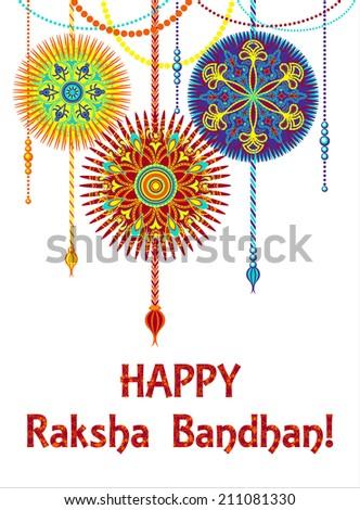 Indian festival Raksha Bandhan background - stock vector