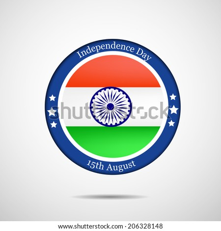 Indian Flag button or badge for Independence Day