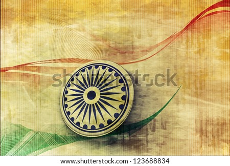 Indian flag for Republic Day - stock vector