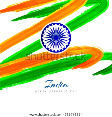 Indian flag theme background design - stock vector