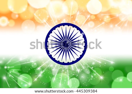 Indian flag theme background for Indian Republic day and Independence day. 15 of august. Vector illustration - stock vector