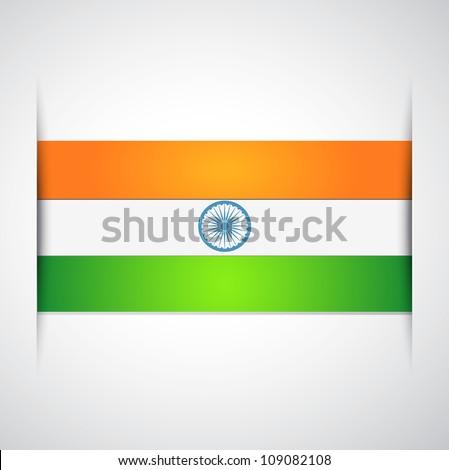 indian flag vector design art - stock vector