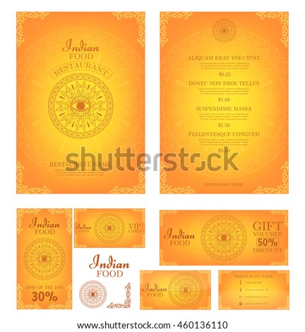 Indian food restaurant menu template food stock vector royalty free restaurant menu template food flyer business card vector wajeb Images