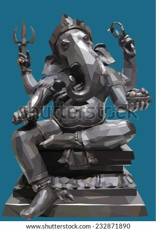 Indian God Ganesha Vector illustration. - stock vector