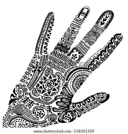 indian henna tattoo pattern hand drawn stock vector royalty free rh shutterstock com Henna Design Cards Henna Tattoo