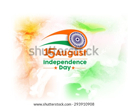 Indian Independence Day concept with text 15th August - stock vector
