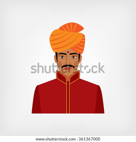 Indian man in traditional clothes. vector illustration - eps 8 - stock vector