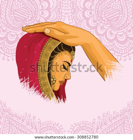 Indian Marriage - stock vector