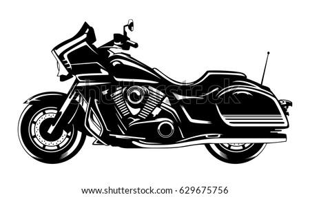Indian Motorcycle Black Stock Vector 629675756 Shutterstock
