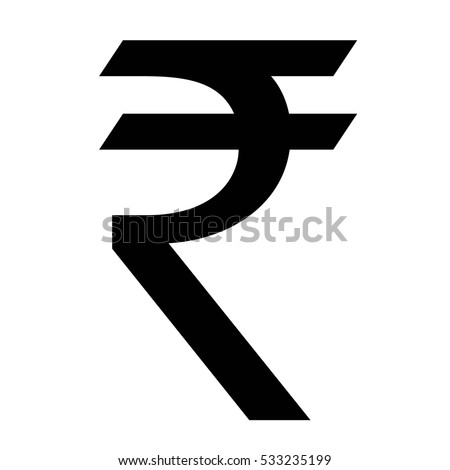 Indian Rupee Currency Symbol Inr Money Stock Vector 533235199
