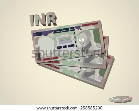 Indian Rupee money paper vector design - stock vector