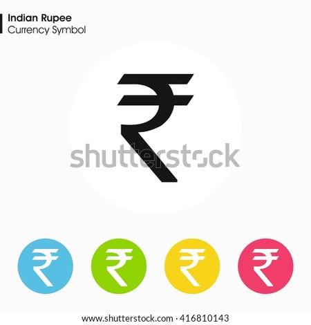 Indian Rupee Sign Icon Money Symbol Vector Stock Vector Royalty