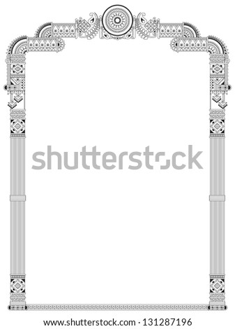Indian Traditional Frame Stock Vector (2018) 131287196 - Shutterstock