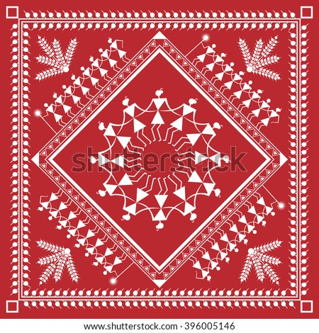 Indian tribal painting warli painting stock vector royalty free indian tribal painting warli painting altavistaventures Image collections