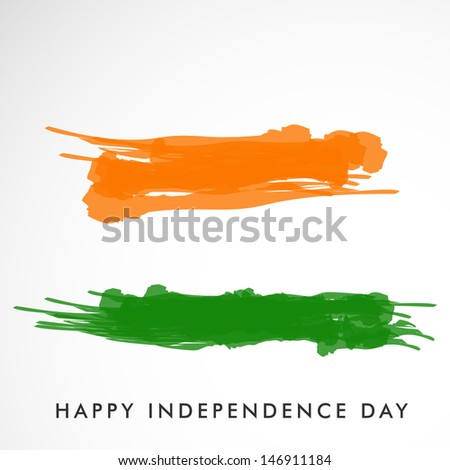 Indian tricolors background for Independence Day. - stock vector