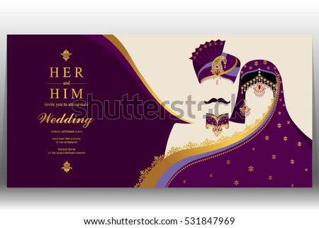 Indian Wedding Card Gold Crystals Color Vector 531847969 – Indian Wedding Card