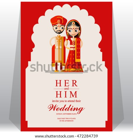 Indian wedding invitation card stock photo photo vector indian wedding invitation card stopboris Image collections