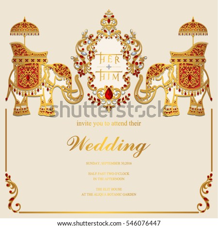 indian wedding card stock images royalty free images vectors shutterstock. Black Bedroom Furniture Sets. Home Design Ideas