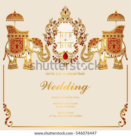 indian wedding card stock images royalty free images vectors shutterstock. Black Bedroom Furniture Sets. Home Design Ideas