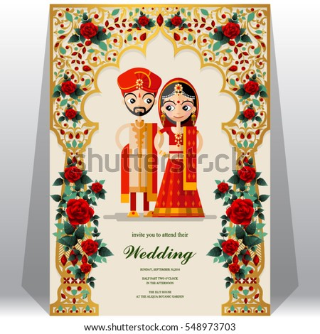 Indian wedding invitation card templates gold stock vector royalty indian wedding invitation card templates with gold patterned and crystals on paper color stopboris Images