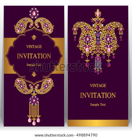 indian wedding invitation or card with abstract background islam arabic