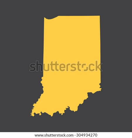 Indiana state border,map. Vector EPS8 - stock vector