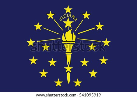 Indiana State Flag, USA. Vector Format