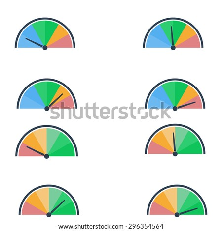 Indices download - stock vector