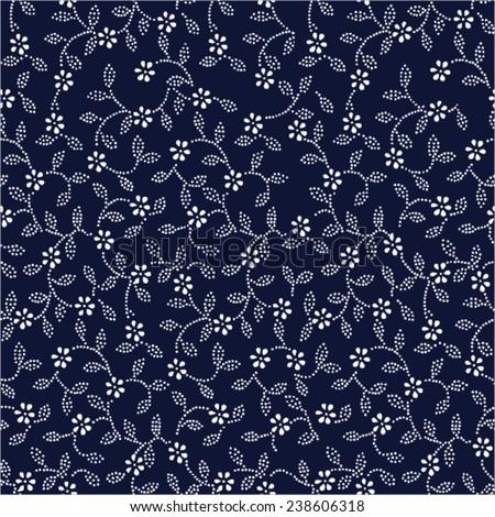 Indigo Dye Patter - stock vector