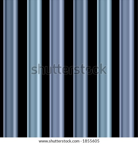 individual  blue bars on black background - stock vector