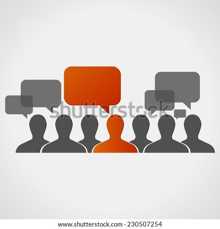 individuality. communication - stock vector