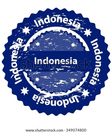 Indonesia Country Grunge Stamp - stock vector