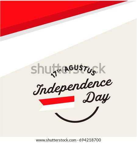 Indonesia Simple Baground Usable Greeting Card Vectores En Stock ...