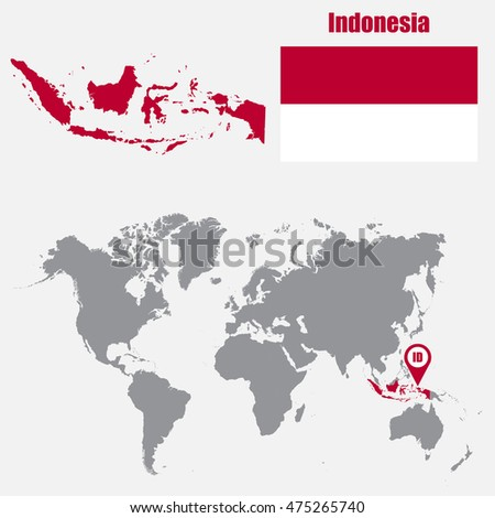 Singapore map on world map flag stock vector 475865320 shutterstock indonesia map on a world map with flag and map pointer vector illustration gumiabroncs Choice Image