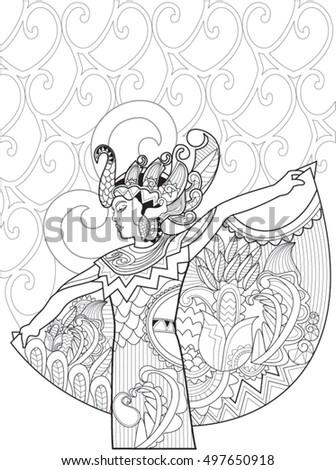 indonesian dancer doodle art
