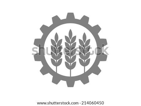 Industrial and agricultural icon on white background   - stock vector
