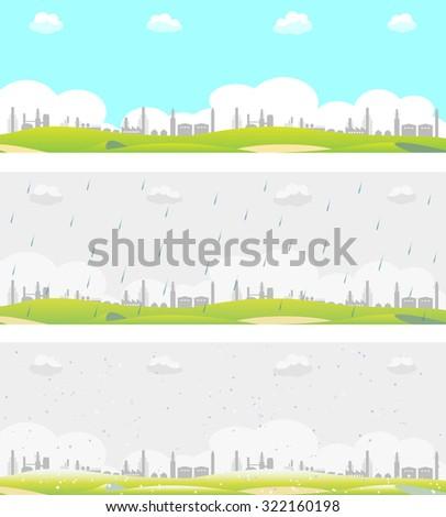 industrial area - stock vector